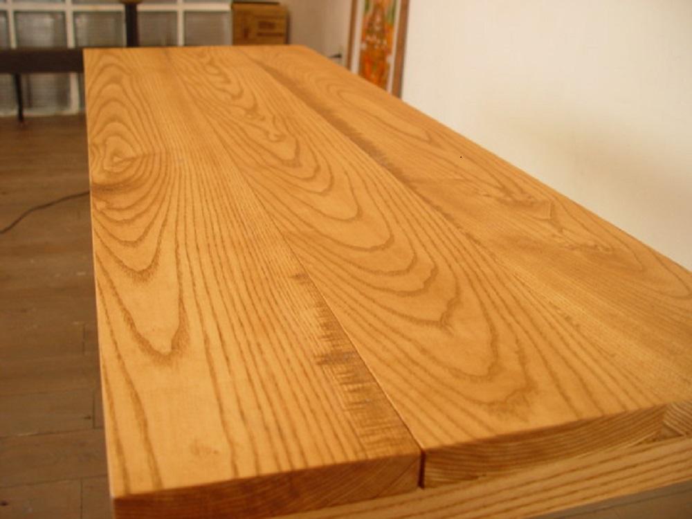 ナラのロングカフェテーブル